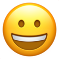 grinning face emoji on apple iphone iOS