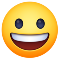 grinning face emoji on facebook and messenger