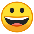 grinning face emoji on google and android