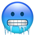 cold face emoji on apple iphone iOS