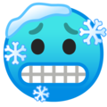 cold face emoji on google android