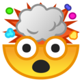 exploding head emoji on google android