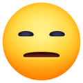 expressionless face emoji on facebook messenger