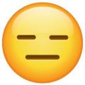 expressionless face emoji on whatsapp