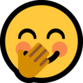 face with hand over mouth emoji on microsoft windows