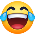 face with tears of joy emoji on facebook messenger