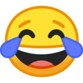 face with tears of joy emoji on google android