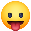 face with tongue emoji on facebook messenger