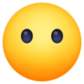 face without mouth emoji on facebook messenger