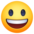 grinning face with big eyes emoji on facebook and messenger