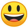 grinning face with big eyes emoji on google and android
