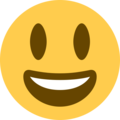 grinning face with big eyes emoji on twitter (twemoji)