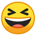 grinning squinting face emoji on google android
