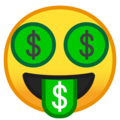 money-mouth face emoji on google android