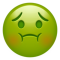 nauseated face emoji on apple iphone iOS