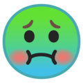 nauseated face emoji on google android