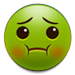 nauseated face emoji on samsung