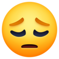 pensive face emoji on facebook messenger