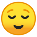 relieved face emoji on google android