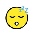 sleeping face emoji on openmoji