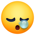 sleepy face emoji on facebook messenger