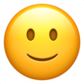 slightly smiling face emoji on apple iphone iOS