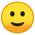 slightly smiling face emoji on google android