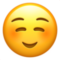 smiling face emoji on apple iphone iOS