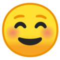 smiling face emoji on google android