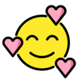 smiling face with hearts emoji on openmoji