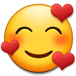 smiling face with hearts emoji on samsung