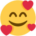 smiling face with hearts emoji on twitter (twemoji)