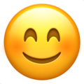 smiling face with smiling eyes emoji on apple iphone iOS