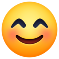 smiling face with smiling eyes emoji on facebook messenger