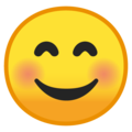 smiling face with smiling eyes emoji on google android