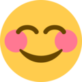 smiling face with smiling eyes emoji on twitter (twemoji)