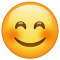 smiling face with smiling eyes emoji on whatsapp