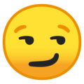 smirking face emoji on google android