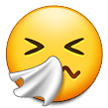 sneezing face emoji on samsung