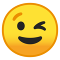 winking face emoji on google android