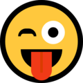 winking face with tongue emoji on microsoft windows