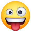 zany face emoji on facebook messenger