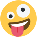 zany face emoji on twitter (twemoji)