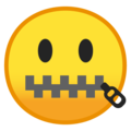 zipper-mouth face emoji on google android