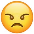 angry face emoji on whatsapp
