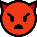 angry face with horns emoji on microsoft windows