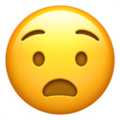 anguished face emoji on apple iphone iOS