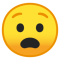 anguished face emoji on google android