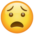 anguished face emoji on whatsapp