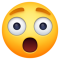 astonished face emoji on facebook messenger